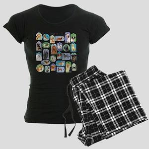 Dogs A-Z Women's Dark Pajamas