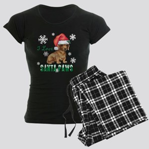 Holiday Dachshund Women's Dark Pajamas