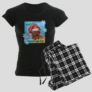 Holiday Dogue de Bordeaux Women's Dark Pajamas