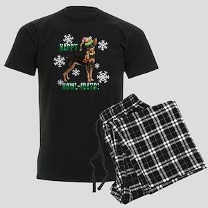 Holiday Min Pin Men's Dark Pajamas