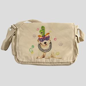 Party Bichon Messenger Bag