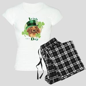 St. Pat Longhaired Dachshund Women's Light Pajamas