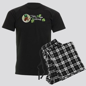St. Patrick Irish Red and Whi Men's Dark Pajamas