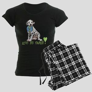 Earth Day Dalmatian Women's Dark Pajamas