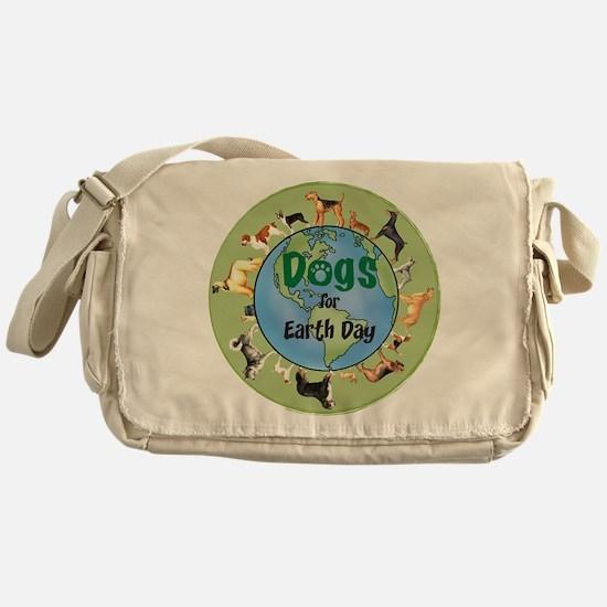 Earth Day Dogs Messenger Bag