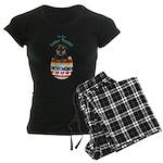 Easter Rottweiler Women's Dark Pajamas
