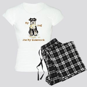 Miniature Schnauzer Ate Homew Women's Light Pajama