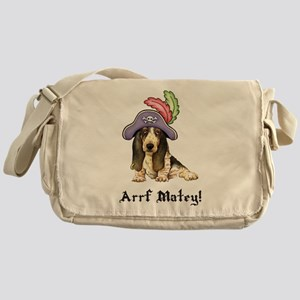 Basset Pirate Messenger Bag