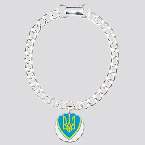Crest Charm Bracelet, One Charm
