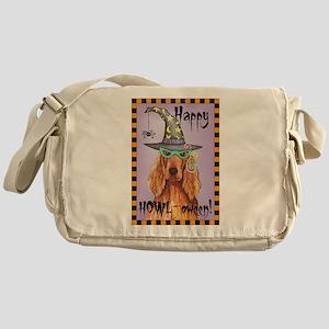 Halloween Irish Setter Messenger Bag
