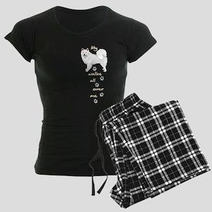 Eskie Walks Women's Dark Pajamas