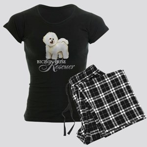 Bichon Frise Rescue Women's Dark Pajamas