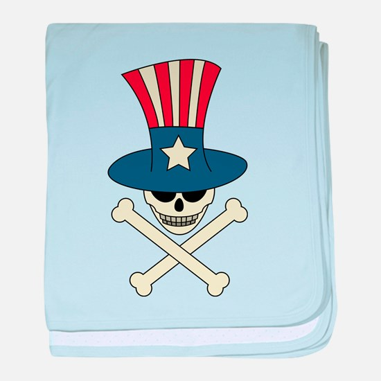 Uncle Sam and Crossbones baby blanket