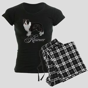 Border Collie Rescue Women's Dark Pajamas