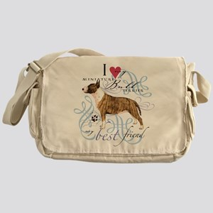 Miniature Bull Terrier Messenger Bag