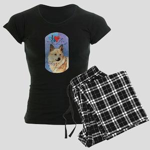 Norwegian Buhund Women's Dark Pajamas