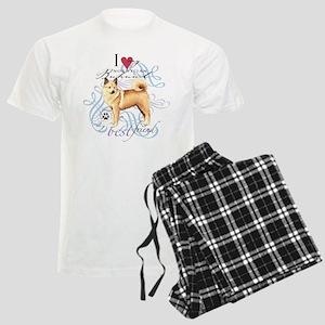 Norwegian Buhund Men's Light Pajamas