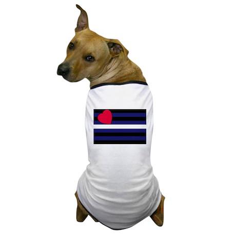 Leather Pride Flag Dog T-Shirt