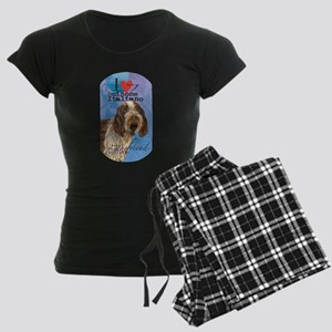 Spinone Italiano Women's Dark Pajamas
