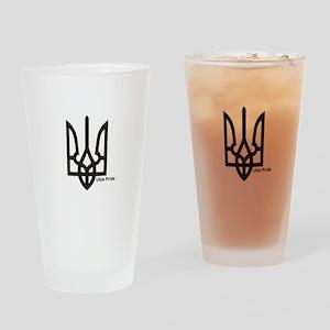 Tryzub Drinking Glass