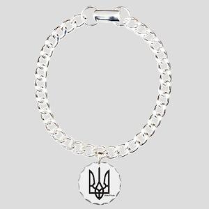 Tryzub Charm Bracelet, One Charm