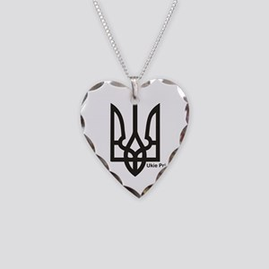 Tryzub Necklace Heart Charm