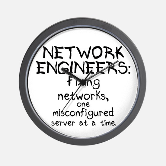 Network Engineers Wall Clock