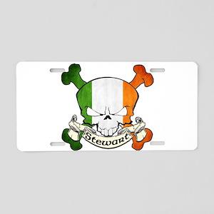 Stewart Skull Aluminum License Plate