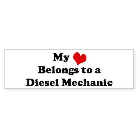 Heart Belongs: Diesel Mechani Bumper Sticker