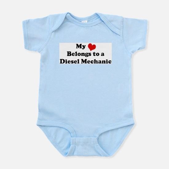 Heart Belongs: Diesel Mechani Infant Creeper