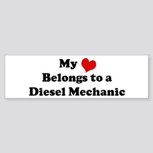 Heart Belongs: Diesel Mechani Bumper Sticker