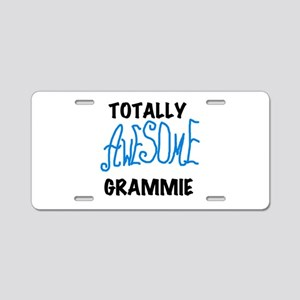 Blue Awesome Grammie Aluminum License Plate