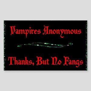 Vampires Anonymous Sticker (Rectangle)