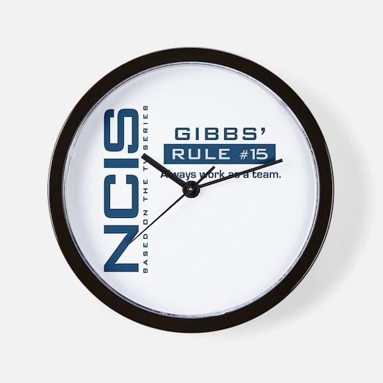 NCIS Gibbs Rule #15 Wall Clock