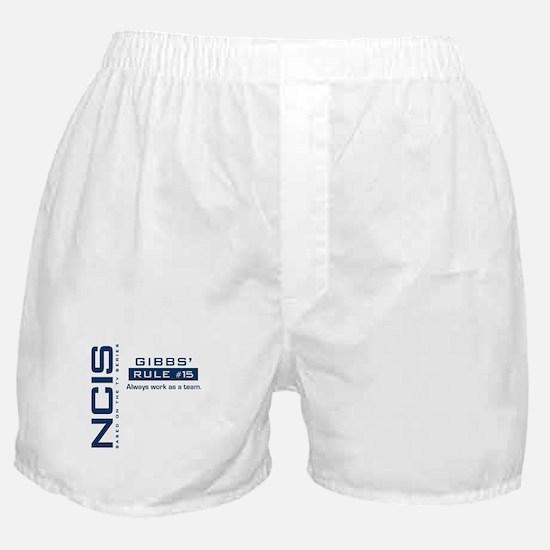 NCIS Gibbs Rule #15 Boxer Shorts