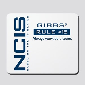 NCIS Gibbs Rule #15 Mousepad