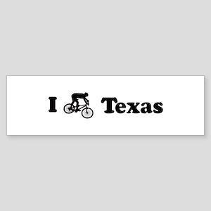 Mountain Bike Texas Bumper Sticker