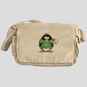 Love Earth Penguin Messenger Bag
