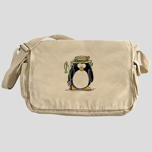 Fishing penguin Messenger Bag
