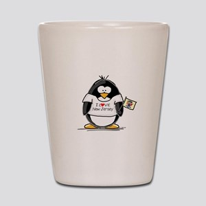 New Jersey Penguin Shot Glass