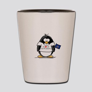 North Dakota Penguin Shot Glass