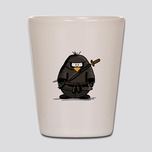 Martial Arts ninja penguin Shot Glass