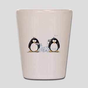 Communication - Penguin Humor Shot Glass