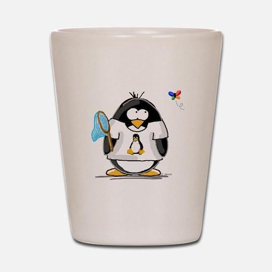 linux vs windows Penguin Shot Glass