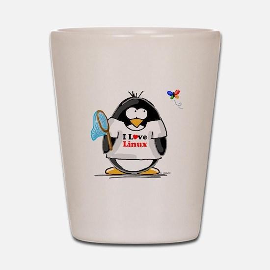 linux Penguin Shot Glass