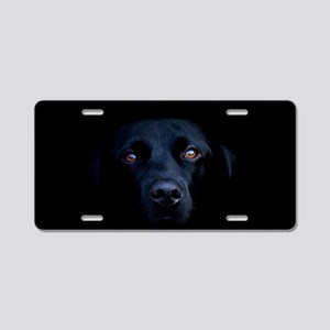 MIDNIGHT BLACK LAB Aluminum License Plate