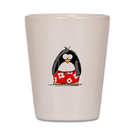 Swim Trunk Penguin Shot Glass