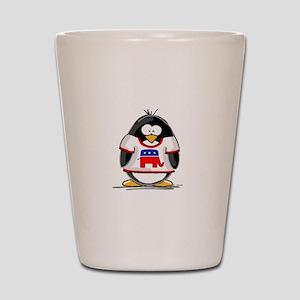 Republican Penguin Shot Glass