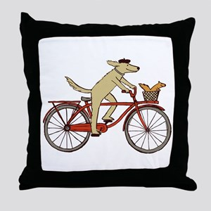Dog & Squirrel Throw Pillow