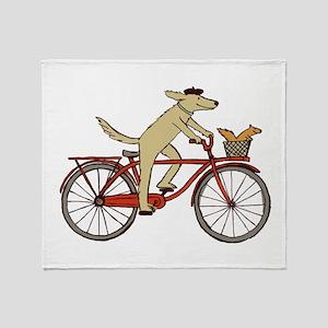 Dog & Squirrel Throw Blanket